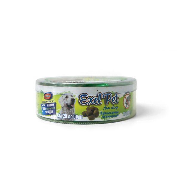 Жевательные гранулы от эктопаразитов «Exel Pet» для собак (20-50 кг)
